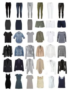 """36 Piece French Wardrobe"" by elle-verlaque ❤️ liked on Polyvore featuring Joie, maurices, H&M, Michael Kors, Yves Saint Laurent, STELLA McCARTNEY, Frame Denim, Austin Reed, Alexander McQueen and Cameo Rose"