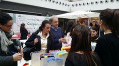 Giro della giuria per gli stand: laboratorio d'impresa Home colours