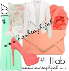 Hashtag Hijab Outfit i love orange with mint