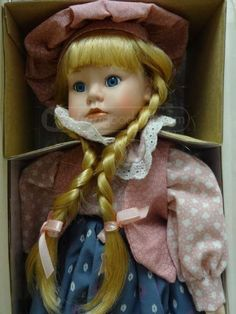 """Hello Dolly Signature Doll 1991 Porcelain Doll 15""""  - Named Paige"""