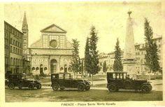 "1920-1930: Piazza Santa Maria Novella with ""Al Capone style"" cars :)))"