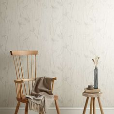 BuyJohn Lewis Croft Collection Grasses Wallpaper, French Grey Online at johnlewis.com