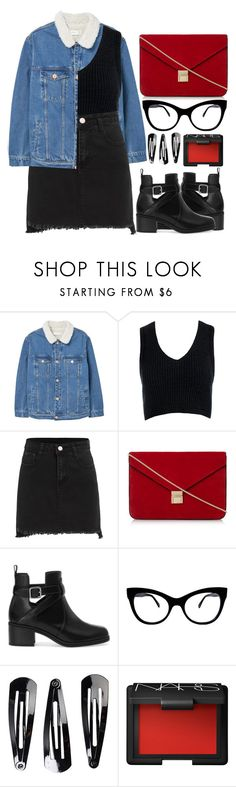 """""""Sem título #966"""" by andreiasilva07 ❤ liked on Polyvore featuring MANGO, Sans Souci, Dune, Pull&Bear, KamaliKulture, NLY Accessories and NARS Cosmetics"""