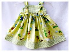 Girls Knot Dress Sundress Winnie the Pooh for by BonJeanCreations