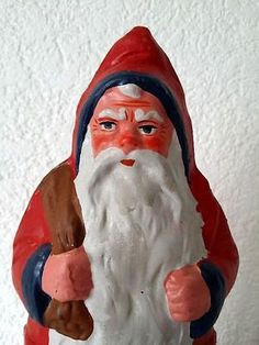 Antique-German-Paper-Mache-BELSNICKLE-SANTA-Christmas-Candy-Container
