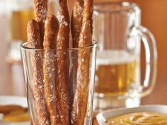 Pretzel Rods from 'Classic Snacks Made from Scratch.' #snacks #recipes #salty