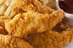 Easy Chicken Tenders Recipe (using Potatoe Flakes for breading) and Dinner Menu