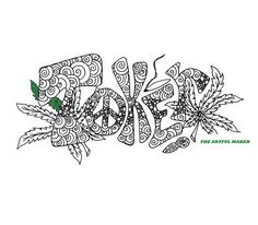 Toker Adult Coloring Page By The Artful Maker