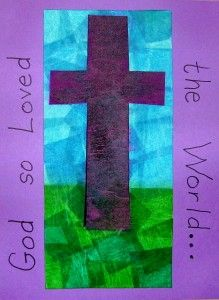 God So Loved the World for CF easter craft