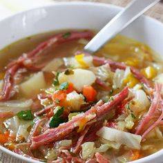 Corned Beef and Cabbage Soup (healthy) Recipe - Key Ingredient