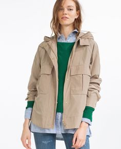15 Cute Raincoats to Keep You Dry This Spring-Best Raincoats for Women Spring-SAFARI CHIC Consider this the perfect coat for whatever weird spring weather Mother Nature throws our way. Water Repellant Jacket, $69.90; Zara. Head over to redbookmag.com for our selection of lightweight jackets.
