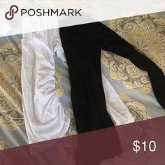 Maternity T-shirt bundle Two long sleeve maternity tee shirts small stain on white one that I will see if I can get out. Lots of maternity in my closet to bundle with Liz Lange Tops Tees - Long Sleeve