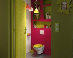 Des WC colorés jusqu'à la cuvette