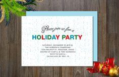 Holiday Non-Photo Invitation by aticnomar on @creativemarket