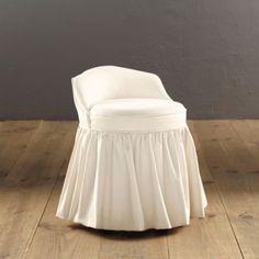 Lovely Vanity Stool with Skirt