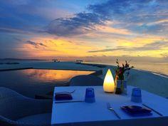 Just you, me and the Maldivian sunset.   @fourseasons #maldives #fsmaldives…