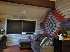 Made from reclaimed pine boards Instagram Wall, Pine Boards, Game Room, Nativity, Native American, Home And Garden, Barn, Motivation, Inspired