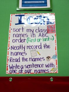 Names Literacy Work Station - great daily 5 word work idea for the start of the year