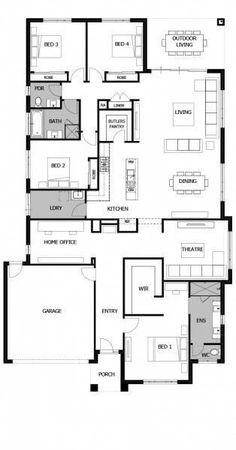 Best House Plans, Dream House Plans, Small House Plans, House Floor Plans, 4 Bedroom House Plans, Sims House Design, Home Design Floor Plans, Boutique Homes, House Blueprints