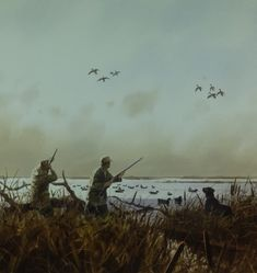 Willow Blind, duck hunting painting by Brett J Smith, brettsmith.com