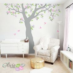 Baby Name Monogram Nursery Wall Decal Custom By TheAmeliaDesigns - Custom vinyl wall decals large   how to remove