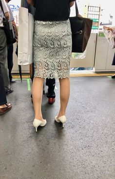 Slit Skirt, Lace Skirt, Sequin Skirt, Beautiful Hips, Beautiful Asian Girls, Cool Tights, Girl Fashion, Womens Fashion, One Piece Dress