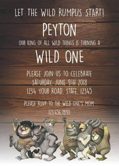 Wild One First Birthday Party. Ideas for planning your little ones first birthday party with the wild one and where the wild things are theme.