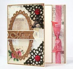 Oval Frame Mum Card