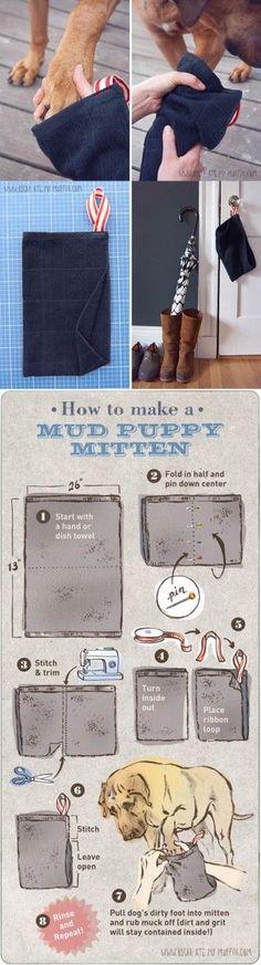 DIY Easy Mud Puppy Mittens 2