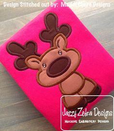 Reindeer 38 Applique Design: Jazzy Zebra Designs