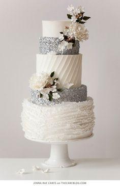 Featured Wedding Cake: Jenna Rae Cakes via The Cake Blog
