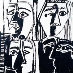 Andy Warhol : Tête d'après Picasso, 1985. Acrylique sur toile, 127 cm x 127. The Andy Warhol Foundation for the Visual Arts, INC / Adagp, Paris 2015.