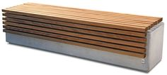 guyon banc bois beton lithos mobilier urbain / guyon lithos timber concrete bench street furniture Plus Concrete Wood Bench, Concrete Furniture, Grey Wood Tile, Wood Tile Floors, Outdoor Tables, Outdoor Seating, Wood Wall Texture, Wood Box Centerpiece, Timber Slats