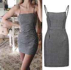 Buy Womens Plaid Short Mini Dress Summer Fashion Casual Sleeveless Dresses For The Best Prices Online. Save up to Off New Summer Wardrobe. Have questions? Contact us at info - Night Out Dresses - Ideas of Night Out Dresses Simple Dresses, Cute Dresses, Elegant Dresses, Short Casual Dresses, Formal Dresses, Simple Dress Casual, Amazing Dresses, Long Dresses, Vintage Dresses
