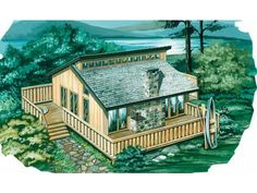 936 sq ft cabin with loft, wrap around deck and clerestory windows