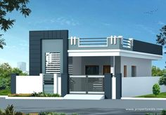 front elevation designs single floor latest indian single storey house elevation designs large size of turn on design ideas not working showing in house elevation elegant design ideas for bedroom walls House Outside Design, House Gate Design, Duplex House Design, Balcony Design, Single Floor House Design, Small House Design, Modern House Design, Independent House, Front Elevation Designs