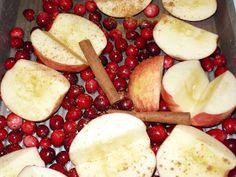little island studios: Baked Apples, Cinnamon & Cranberries!