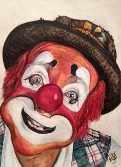 Watercolor Clown #14 Jonathan Freddes