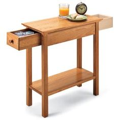 1000 images about side table ideas on pinterest oak end for Hidden storage side table