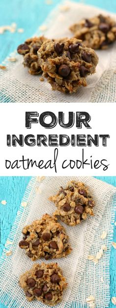 These easy cookies are so delicious, you'd never guess that they are healthy and contain just FOUR ingredients! No added oil or sugar.