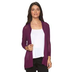 Women's Croft & Barrow® Open-Front Cardigan