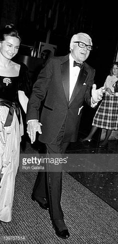 Actor Cary Grant and wife Barbara Grant attend Kennedy Center Honors Gala on December 5 1982 at the Kennedy Center in Washington DC