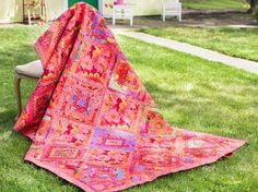 The Pauline's Promise Quilt Kit is a truly stunning selection –– and you won't find it anywhere else! Featuring vivid fabric and an exclusive pattern only available in Kaffe Fassett's book, this ki...