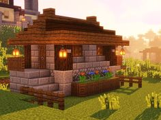 Minecraft Bakery, Minecraft Small House, Minecraft Cottage, Cute Minecraft Houses, Minecraft Castle, Minecraft Room, Minecraft Plans, Minecraft House Designs, Amazing Minecraft