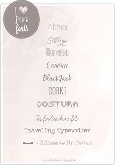 I love Free Fonts! http://dreierlei-liebelei.blogspot.de