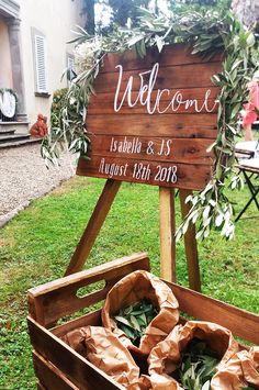 Welcome wood sign, wedding ceremony, Tuscany. Wedding Event Planner, Wedding Events, Wedding Ceremony, Weddings, Welcome Wood Sign, Wedding Signs, Tuscany, Wood Signs, Event Planning