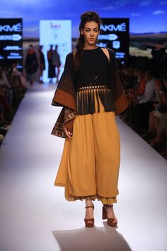 Amazing collection showcased by Shivangi Sahni,INIFD Corporate presents the Gen-Next Designers at Lakme Fashion Week Winter/Festive'15!  #JabongLFW