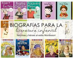 Aprendiendo con Montessori: Biografías para la literatura infantil (heroínas y héroes al estilo Montessori)