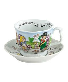 Take a look at this Alice in Wonderland Breakfast Cup Set by Cardew Design on #zulily today!