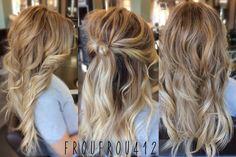 Full head balayage ombré!!  Perfect beachy honey blonde.   Stylist - Ashley Instagram (froufrou412)